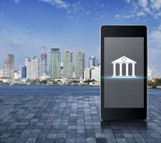 Mobile banking concept Royalty Free Stock Images
