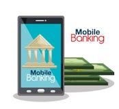 Mobile banking design Stock Image