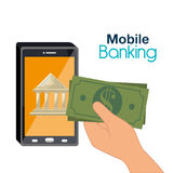 Mobile banking design Stock Photography