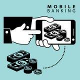 Mobile banking. Euro Stock Image