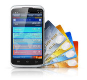 Mobile banking and finance concept Stock Photography