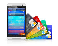 Mobile banking and finance concept Stock Image