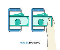 Mobile banking Stock Photo