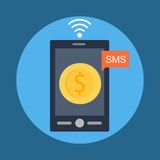 Mobile Banking Royalty Free Stock Photos