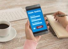 Mobile banking Royalty Free Stock Photo