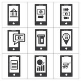 Mobile banking icon Stock Image