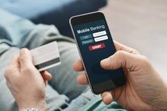 Mobile banking Stock Image