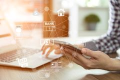 Mobile banking Stock Images