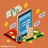 Mobile banking, online payment, money transaction vector concept Stock Photography