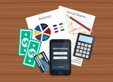 Mobile banking, online payments Royalty Free Stock Images