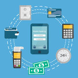 Mobile banking, online payments Royalty Free Stock Photography