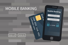 Mobile banking, online payments Royalty Free Stock Photo