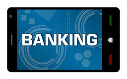 Mobile Banking Smartphone Royalty Free Stock Image