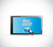 Mobile banking tablet illustration design. Over a white background Stock Images
