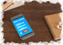 Mobile banking Royalty Free Stock Image