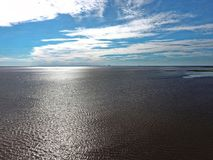 Mobile bay. A view over the sea at Mobile Bay in Daphne, Alabama Royalty Free Stock Photography