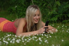 Mobile Beauty stock photo