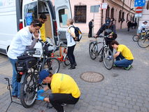 Mobile bike service, Lublin, Poland Royalty Free Stock Photography
