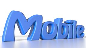 Mobile blue Stock Photos