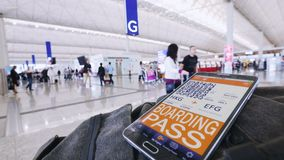Mobile Boarding Pass. stock video footage