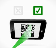Mobile boarding pass Stock Photography