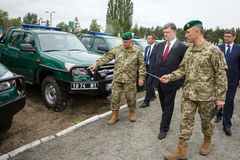 Mobile Border Detachment of the State Border Service of Ukraine Royalty Free Stock Photography