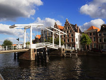 Mobile Bridge in Netherlands Royalty Free Stock Photos