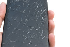 Mobile with broken screen Stock Photography