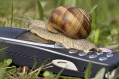 Mobile business is slow!. A really slow mobile phone Stock Images