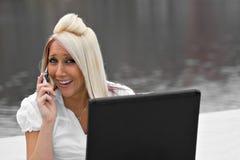 Mobile Business Woman Stock Photos