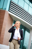 Mobile businesswoman Royalty Free Stock Images