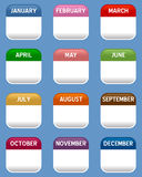 Mobile Calendar Icons Set Royalty Free Stock Images