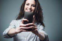 Mobile camera Stock Image