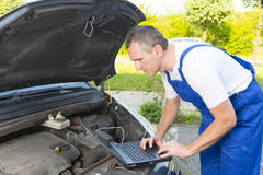 Mobile car assistance Stock Photo