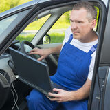 Mobile car assistance Royalty Free Stock Photo