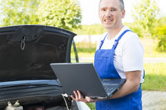 Mobile car assistance Stock Image