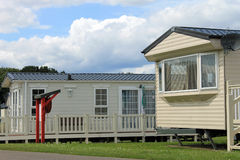Mobile caravans or trailers in modern holiday park Royalty Free Stock Photography