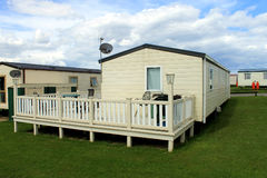 Mobile caravans or trailers in modern holiday park.  Stock Images