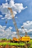 Mobile caterpillar crane Stock Image