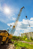 Mobile caterpillar crane Royalty Free Stock Photos