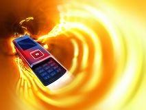 Mobile Cell Phone. A dynamic photo of a Mobile Cell Phone Stock Photography