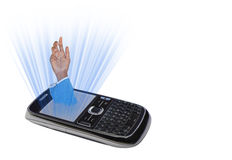 Mobile or cell phone addiction Royalty Free Stock Images