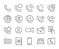 Mobile and cell phone icons set. Flat Design Illustration: Mobile and cell phone icons set Stock Image