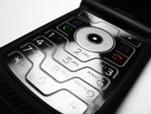 Mobile Cell Phone Keyboard. Close-up of mobile cell phone keyboard Stock Image