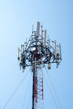 Mobile cells sites tower for communication. Mobile cells sites tower for wireless communication Royalty Free Stock Image