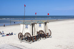 Mobile Changing Rooms On The Beach, editorial Stock Photography