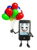 Mobile character with Balloon Stock Images