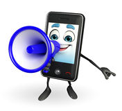 Mobile character with Loudspeaker Stock Images