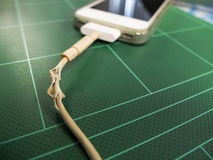 Mobile charger old Royalty Free Stock Image