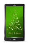 Mobile with Christmas tree Royalty Free Stock Images
